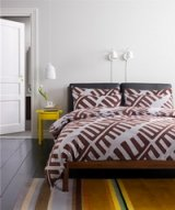 Molde Brown Bedding Set Luxury Bedding Scandinavian Design Duvet Cover Pillow Sham Flat Sheet Gift Idea