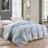 Flowers Blooming Blue Down Comforter