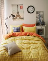 Monaco Yellow Bedding Scandinavian Design Bedding Teen Bedding Kids Bedding