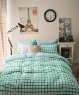 Brada Green Bedding Scandinavian Design Bedding Teen Bedding Kids Bedding