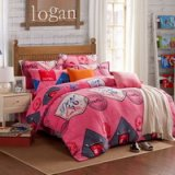 London Style Pink Style Bedding Flannel Bedding Girls Bedding
