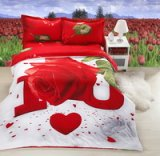Rose Red Bedding 3D Duvet Cover Set
