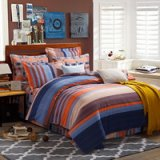 Milan Fashion Blue Duvet Cover Set European Bedding Casual Bedding