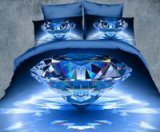 Shining Diamond Blue 3d Bedding Luxury Bedding