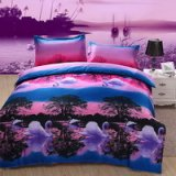 Swan Lake Purple Bedding 3D Duvet Cover Set