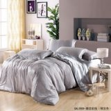 Trendy Stripe Silver Gray Duvet Cover Set Silk Bedding Luxury Bedding