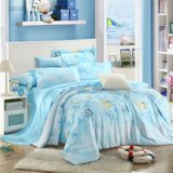 Underwater World Blue Bedding Set Girls Bedding Floral Bedding Duvet Cover Pillow Sham Flat Sheet Gift Idea