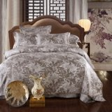 In Love Grey Jacquard Damask Luxury Bedding