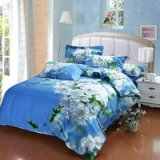 Sakura Blue Bedding Sets Duvet Cover Sets Teen Bedding Dorm Bedding 3D Bedding Floral Bedding Gift Ideas
