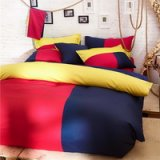 Barcelona Style Red Bedding Set Teen Bedding College Dorm Bedding Duvet Cover Set Gift