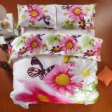 Flowers And Butterflies White Bedding 3d Duvet Cover Set