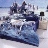 Gift Ideas Horses Blue Bedding Sets Teen Bedding Dorm Bedding Duvet Cover Sets 3D Bedding Animal Print Bedding