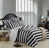 Simple European Style Zebra Print Bedding Set