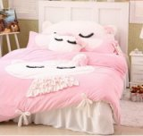 Cute Kitty Pink Princess Bedding Girls Bedding Women Bedding