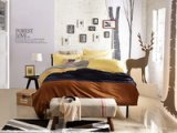 Lovers In The Attic Yellow Velvet Bedding Modern Bedding Winter Bedding