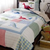 Kids Dinosaur Park White Dinosaur Bedding Set