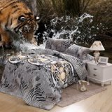 Jungle King Tiger Duvet Cover Set 3D Bedding