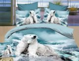 Polar Bear Blue Bedding Animal Print Bedding 3d Bedding Animal Duvet Cover Set