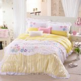 Colorful Flower Yellow Bedding Girls Bedding Princess Bedding Teen Bedding