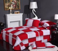 Red And White Cheap Modern Bedding Sets