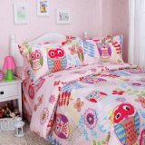 Happy Forest Pink Owl Duvet Cover Set Owl Bedding Set