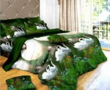 Swans In The Lake Bedding 3D Duvet Cover Set