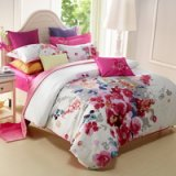 Ink Painting Flowers Modern Duvet Cover Bedding Sets