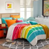 Colorful Rainbow Orange Tartan Bedding Stripes And Plaids Bedding Teen Bedding
