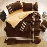 Coffee Camel Coral Fleece Bedding Teen Bedding