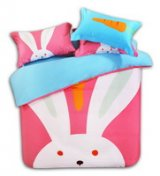 The Small Rabbit Pink Cartoon Animals Bedding Kids Bedding Teen Bedding