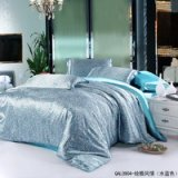 Magic Aqua Blue Silk Bedding Modern Bedding