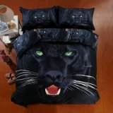 Panther Black Bedding 3d Duvet Cover Set