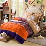 Puppy And Kitty Purple Teen Bedding College Dorm Bedding Kids Bedding