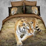 Tiger On The Grass Tawny 3d Bedding Luxury Bedding