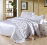 Pure Enjoyment White Silk Bedding Silk Duvet Cover Set
