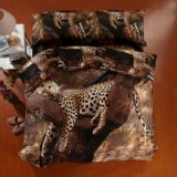 Leopard Brown Bedding 3d Duvet Cover Set