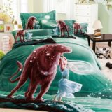 Leo Oil Painting Style Zodiac Signs Bedding Set