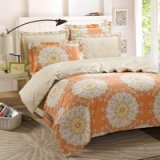 The Impression Of Seattle Orange Duvet Cover Set European Bedding Casual Bedding
