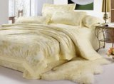 Charming Milk White 4 PCs Luxury Bedding Sets