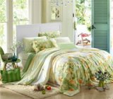 Happy Hour Green Bedding Set Girls Bedding Floral Bedding Duvet Cover Pillow Sham Flat Sheet Gift Idea