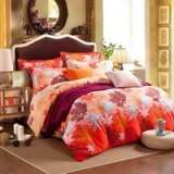 Maple Leaf Orange Flowers Bedding Flannel Bedding Girls Bedding