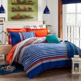 Summertime Blue Tartan Beddding Stripes And Plaids Bedding