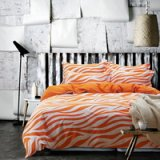 Zebra Print Orange Bedding Kids Bedding Teen Bedding Dorm Bedding Gift Idea