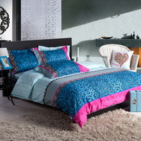 Blue Night Cheetah Print Bedding Sets