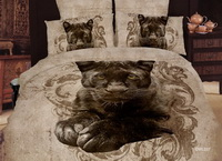 Black Leopard Cheetah Print Leopard Print Bedding Set