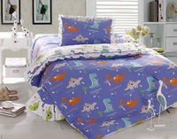 Cartoon Dinosaur Blue Dinosaur Bedding Set