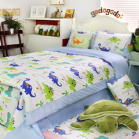 Dinosaur Homes Blue Dinosaur Bedding Set