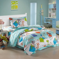 Dinosaur Kingdom Sky Blue Dinosaur Bedding Set
