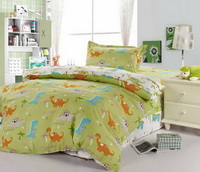 Dinosaur Paradise Green Dinosaur Bedding Set
