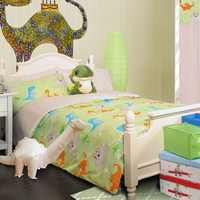 Dinosaurs Light Green Dinosaur Bedding Set